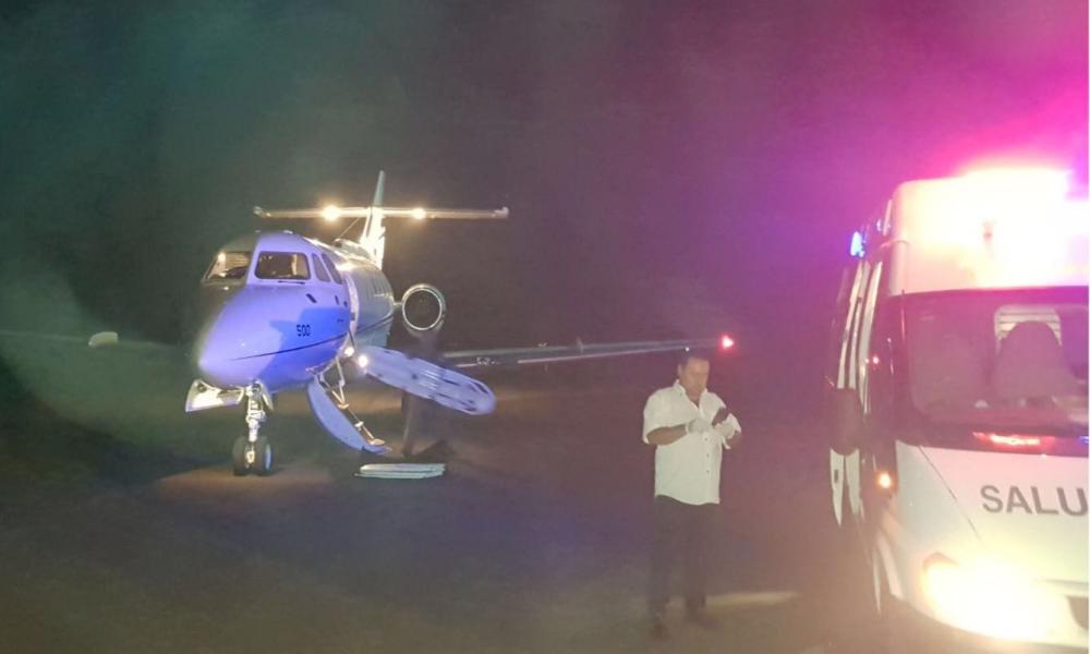 Avi n presidencial traslad paciente quemada desde rivera for Mueblerias por calle rivera montevideo